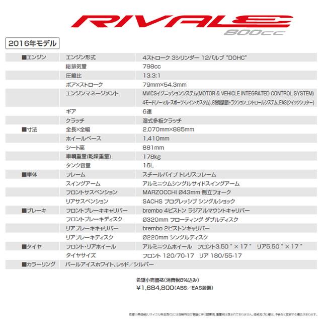 RIVALE 800