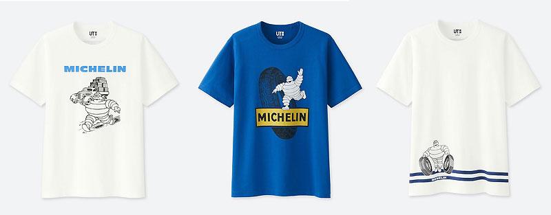 ミシュランとユニクロ ut のコラボtシャツが発売中 バイクブロス