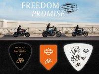 【ハーレー】「FREEDOM PROMISE」の CM に Rei の楽曲を採用! 限定ギターピックが当たる Twitter キャンペーンを6/15まで実施中 メイン