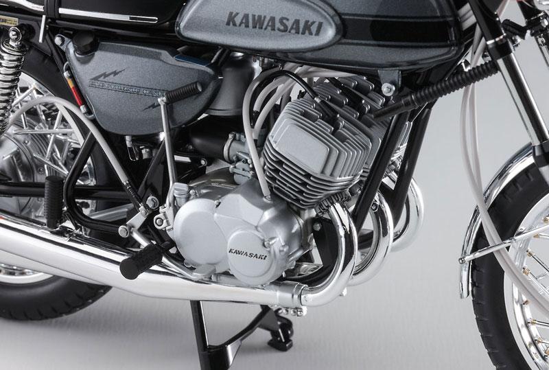 ハセガワから1/12スケールのプラモデル「カワサキ 500-SS/MACH III(H1)」が7月末に発売 記事4