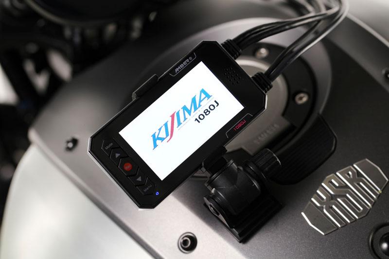 キジマの「オートバイ専用 ドライブレコーダー 1080J デュアルカメラ 前後Full HD」が発売 記事7