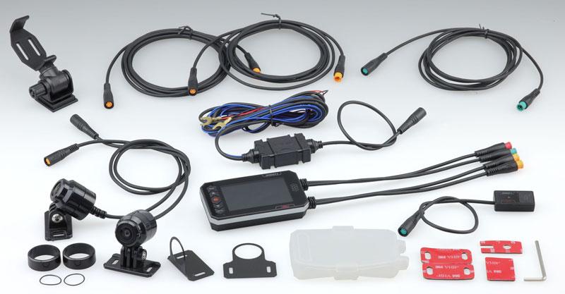 キジマの「オートバイ専用 ドライブレコーダー 1080J デュアルカメラ 前後Full HD」が発売 記事8