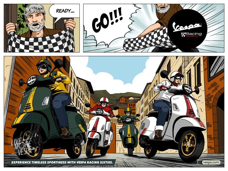 Vespa GTS Super 150 Racing Sixties Vespa Sprint 150 Racing Sixties 記事5