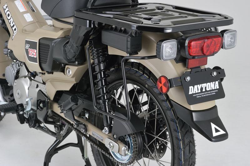 デイトナから CT125 ハンターカブ用「サドルバッグサポート 左側専用」と「パイプエンジンガード」が登場 記事1