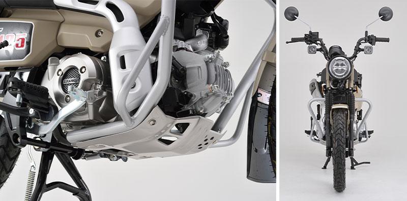 デイトナから CT125 ハンターカブ用「サドルバッグサポート 左側専用」と「パイプエンジンガード」が登場 記事4