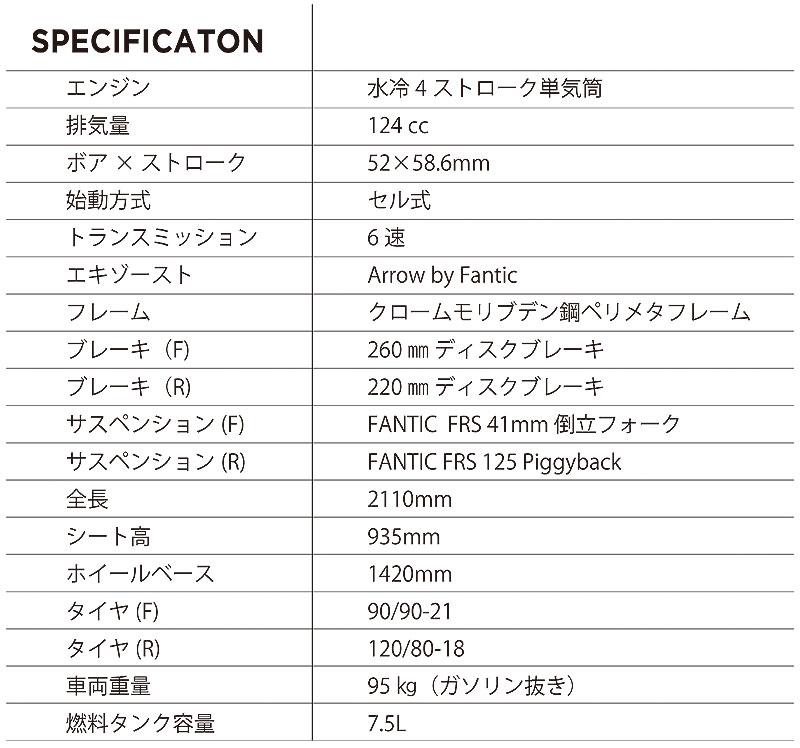 ファンティック Enduro125 記事5