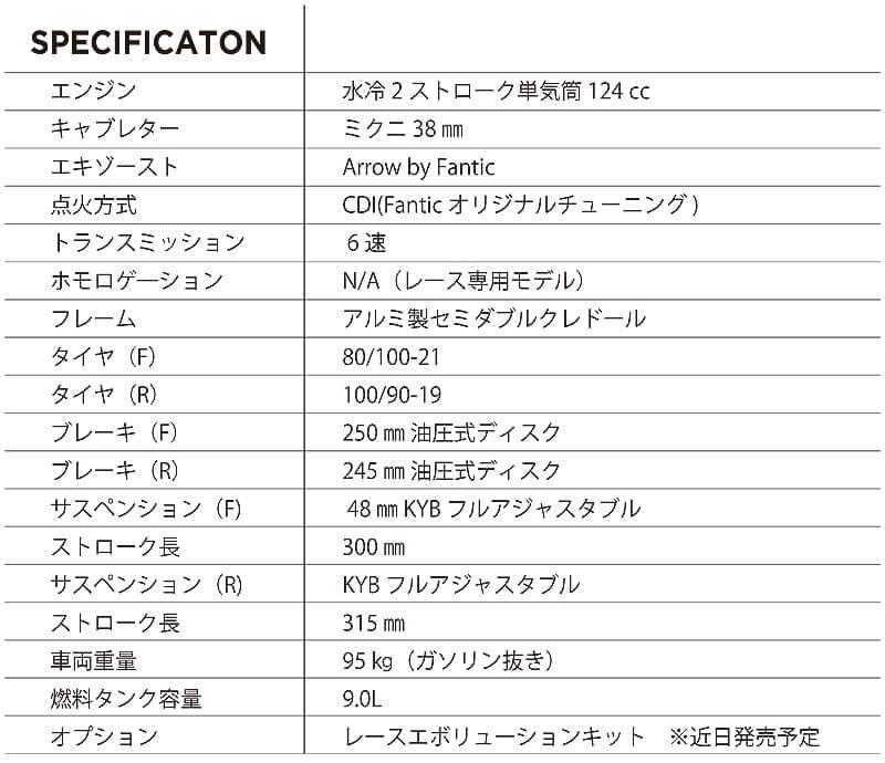 FANTIC(ファンティック) XX125 XE125 記事6