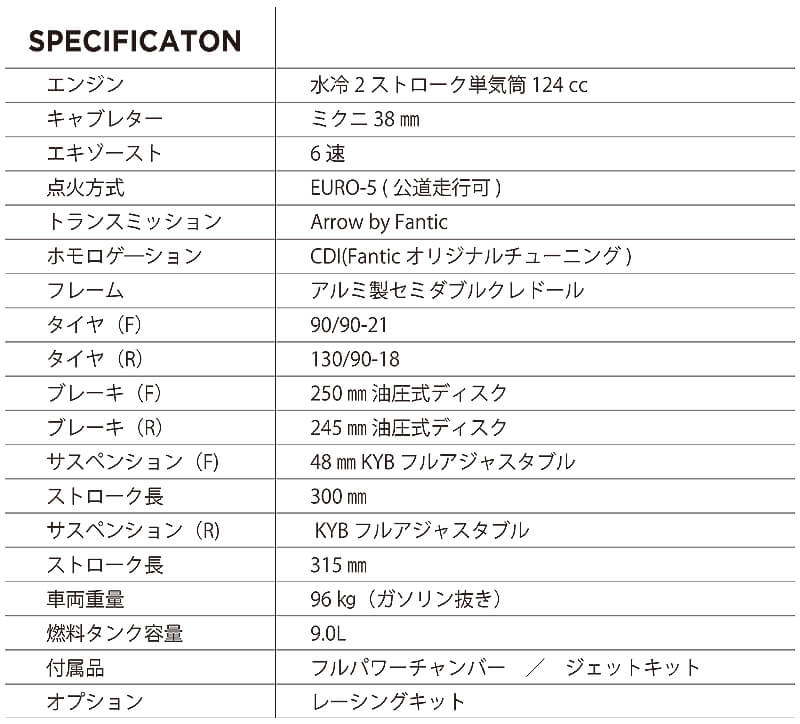 FANTIC(ファンティック) XX125 XE125 記事8