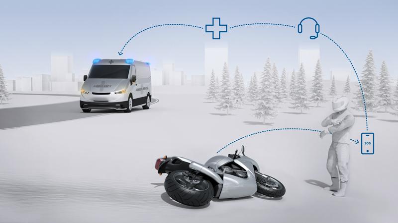 ボッシュが二輪車向け自動緊急通報システム「ヘルプコネクト」を開発 記事1