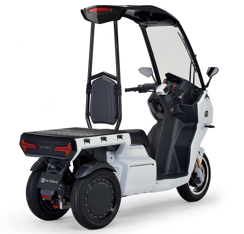 aidea(アイディア)株式会社が3輪電動スクーター「AAカーゴ」シリーズを発売 記事12