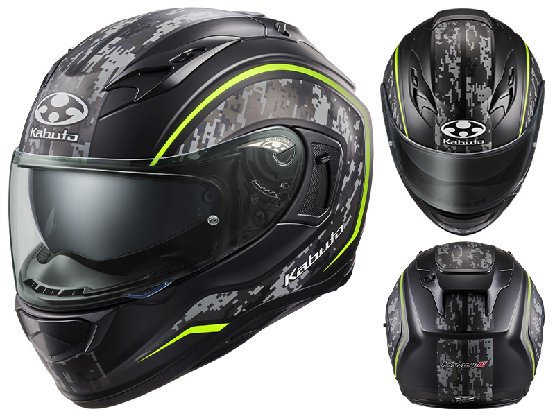 オージーケーカブトがフルフェイスヘルメット「KAMUI-3 KNACK」に新色を追加し7月上旬に発売予定 記事1