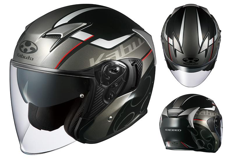 オージーケーカブトのインナーサンシェード付きオープンフェイスヘルメット「EXCEED(エクシード)」にグラフィックモデル「GLIDE(グライド)」と「EXCEED SWORD(ソード)」が登場 記事1