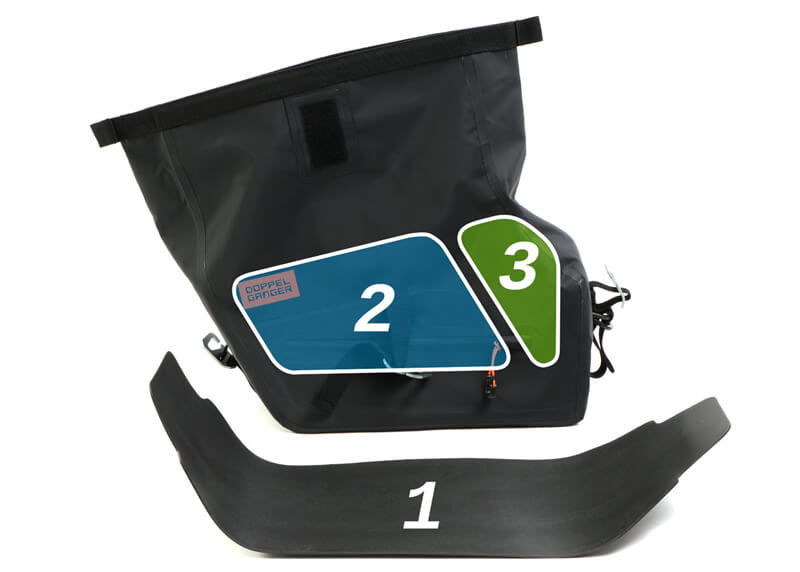 250ccのスポーツバイク専用に設計された防水サイドバッグ「ターポリンサイドバッグ25」がドッペルギャンガーからリリース 記事3