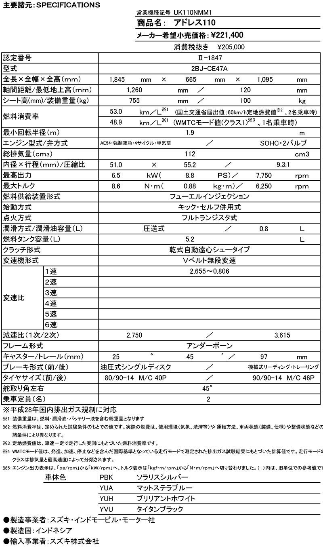 スズキ アドレス110 記事5