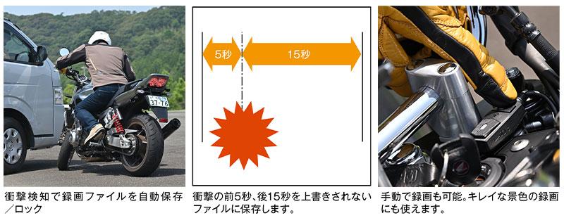 デイトナのバイク専用ドライブレコーダー「MiVue(R)M760D」が11月上旬発売 記事12