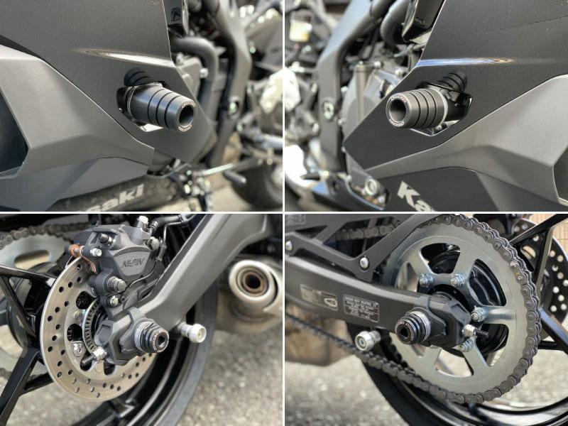 転倒時のダメージを軽減! ストライカーの「STRIKER ガードスライダー」に Ninja ZX-25R 用が追加され11月上旬に発売 メイン