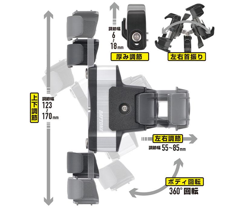 デイトナの「バイク用スマートフォンホルダー3」が11月上旬発売 記事5
