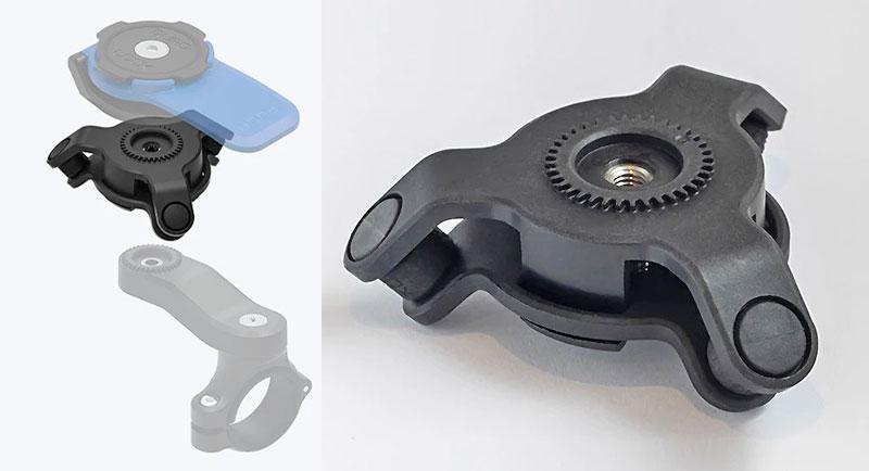 スマホのカメラにダメージを与えるバイクの振動を大幅に軽減! クアッドロックの「衝撃吸収ダンパー」が11月末発売 記事1