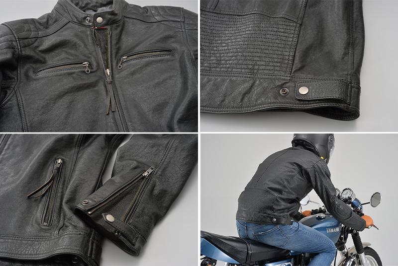 ビンテージテイストの革ジャンがこのプライス! デイトナから「DL-006 カフェライダースジャケット」が11月下旬発売 記事3