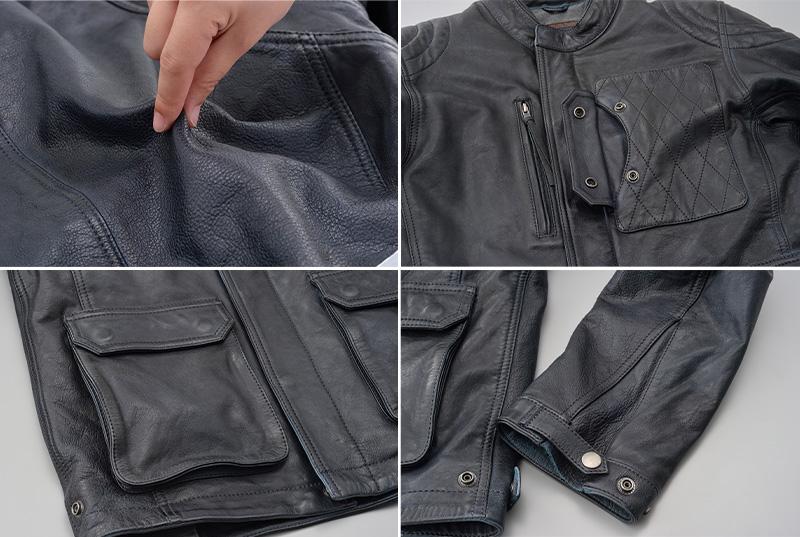 オールドテイストの本格的レザージャケット「DL-501 スクランブラージャケット」がデイトナから11月下旬発売 記事2