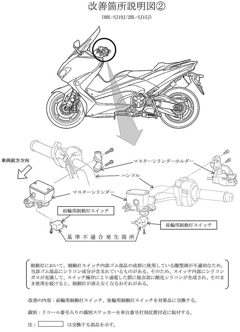 【リコール】ヤマハ TRACER900 GT、ほか10車種 計7,536台 記事3
