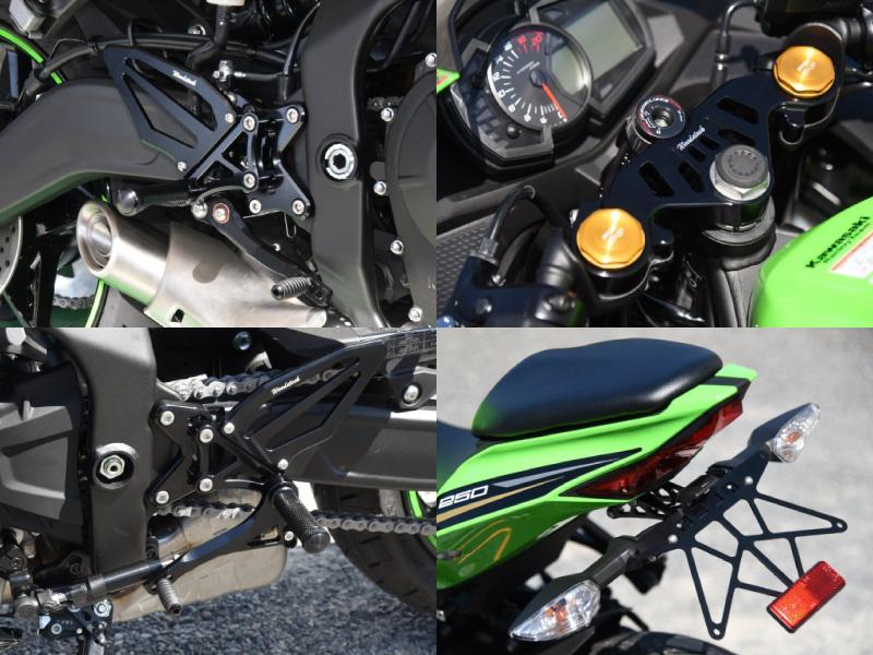 ウッドストック Kawasaki Ninja ZX-25R向け「バックステップキット、ライセンスプレートホルダー、トップブリッジ 」メイン