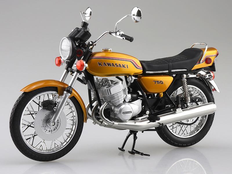 アオシマから塗装済みスケールモデル「1/12 完成品バイク KAWASAKI 750SS MACH IV(ヨーロッパ仕様)」が4月発売予定 記事1