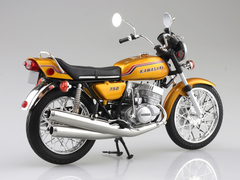 アオシマから塗装済みスケールモデル「1/12 完成品バイク KAWASAKI 750SS MACH IV(ヨーロッパ仕様)」が4月発売予定 記事2
