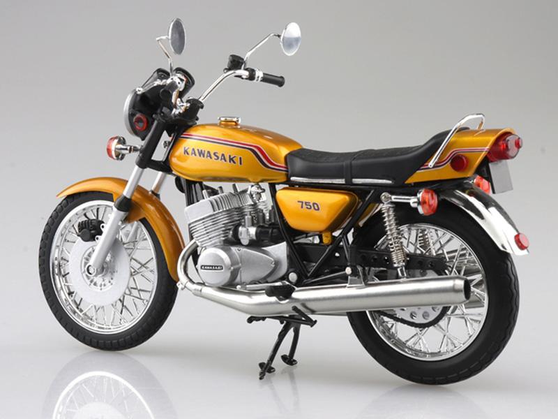 アオシマから塗装済みスケールモデル「1/12 完成品バイク KAWASAKI 750SS MACH IV(ヨーロッパ仕様)」が4月発売予定 記事3