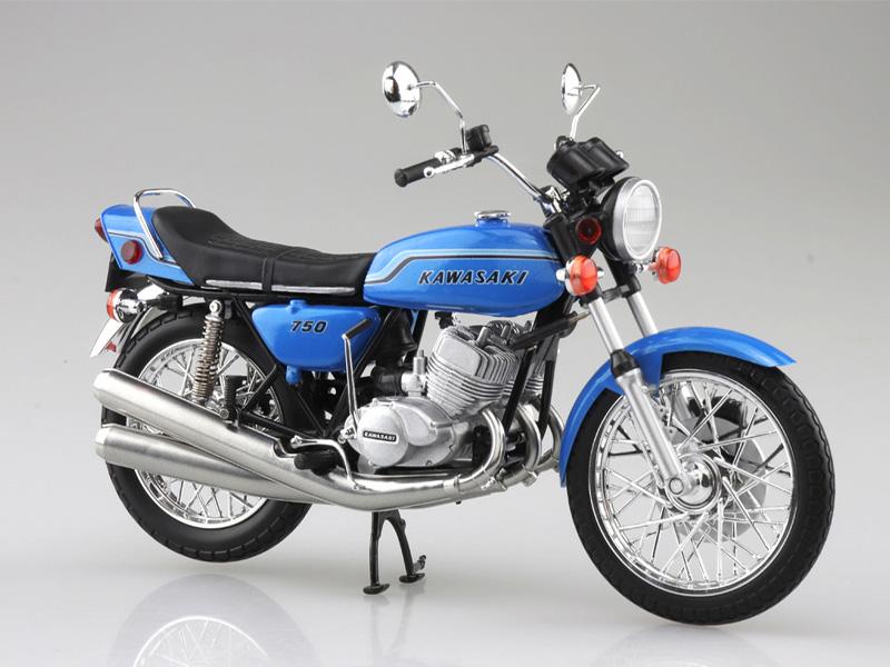 アオシマから塗装済みスケールモデル「1/12 完成品バイク KAWASAKI 750SS MACH IV(ヨーロッパ仕様)」が4月発売予定 記事4