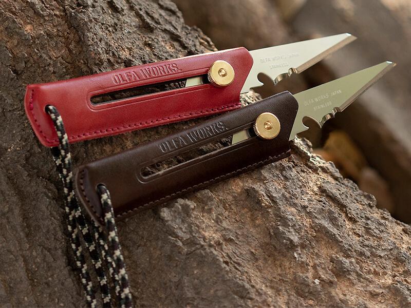 キャンツーで便利なオルファのブッシュクラフトナイフに本革製グリップの限定モデルが登場! メイン