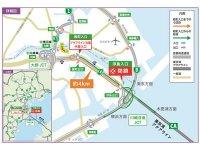 東京湾アクアライン・湾岸線浮島入口が工事のため3/5~5月下旬まで終日閉鎖 サムネイル
