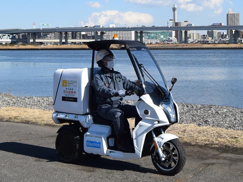 【アイディア】電動3輪バイク「AA カーゴ」が荒川河川巡視の社会実験に採用 メイン