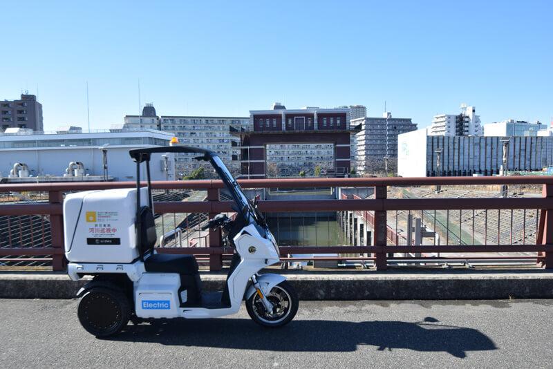 【アイディア】電動3輪バイク「AA カーゴ」が荒川河川巡視の社会実験に採用 記事3