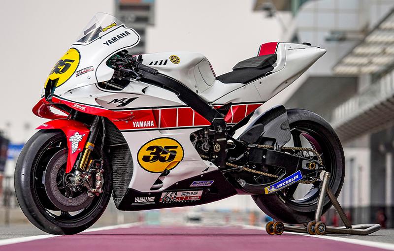 【ヤマハ】ロードレース世界選手権参戦60周年を記念した特別カラーの「YZR-M1」をカタールで公開 記事2