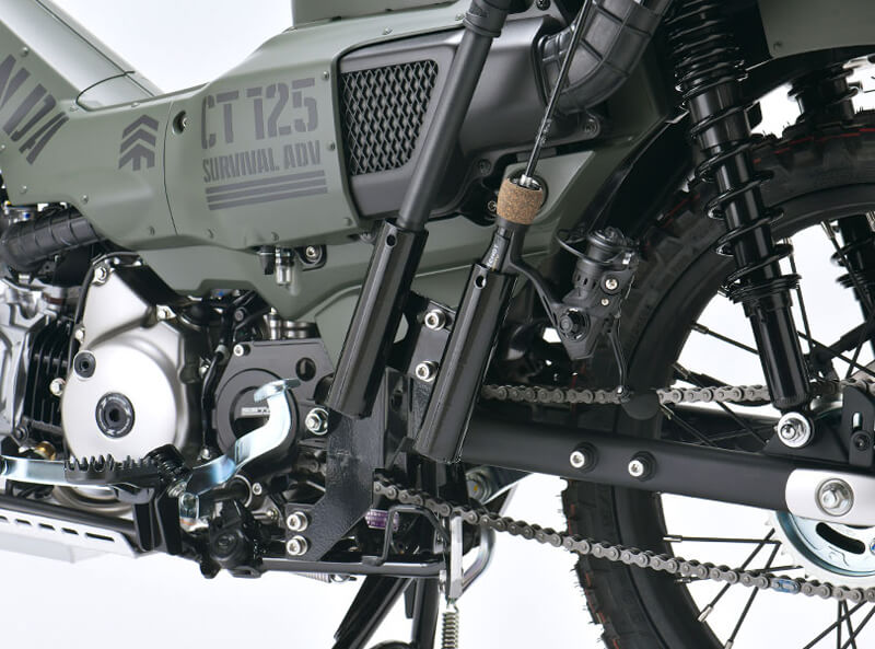 ダートフリークが軍用車をモチーフにカスタマイズした CT125 ハンターカブ「サバイバルアドベンチャー仕様」を公開 記事5