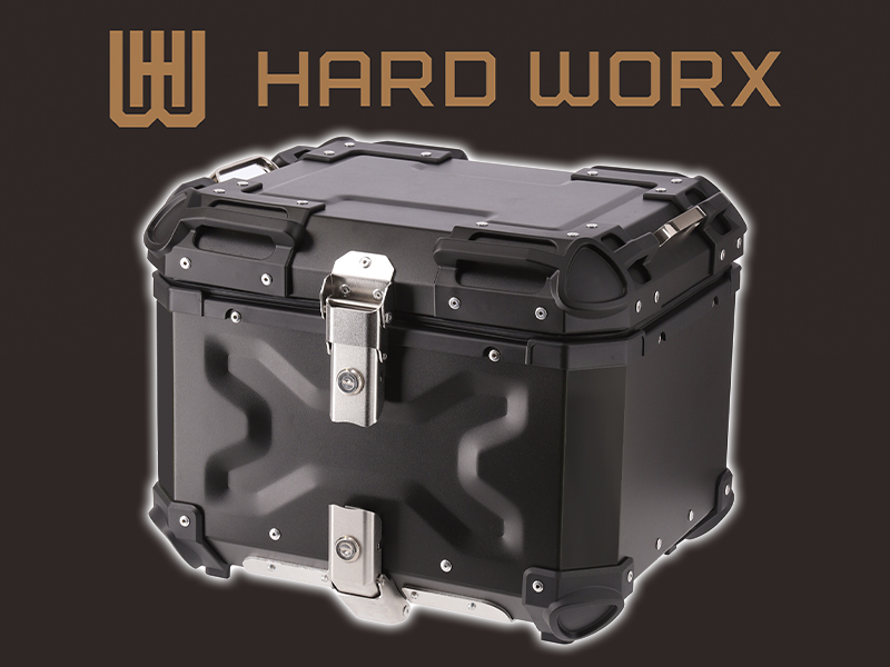 RIDEZ の新ブランド「HARD WORX」からアルミ製のトップケースが4/10発売! メイン