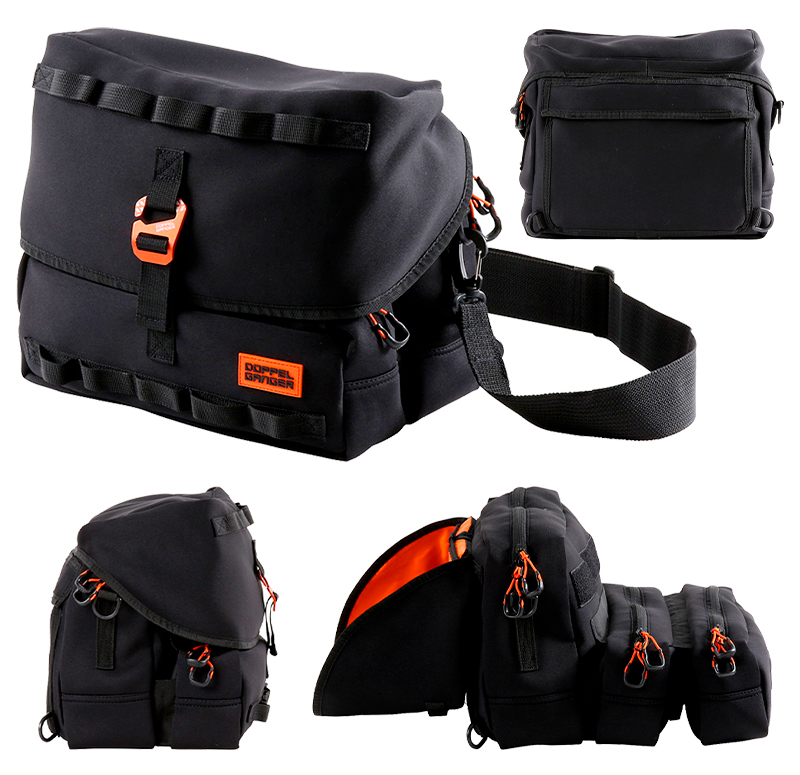 サイドバッグにもなるウェットスーツ素材のショルダーバッグ「モトメディカルバッグ DBT609-BK」がドッペルギャンガーから登場 記事2