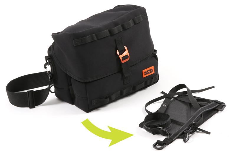 サイドバッグにもなるウェットスーツ素材のショルダーバッグ「モトメディカルバッグ DBT609-BK」がドッペルギャンガーから登場 記事6
