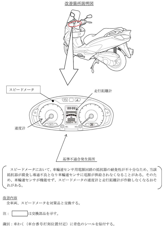 【リコール】スズキ バーグマン、1車種 計1,770台 記事2