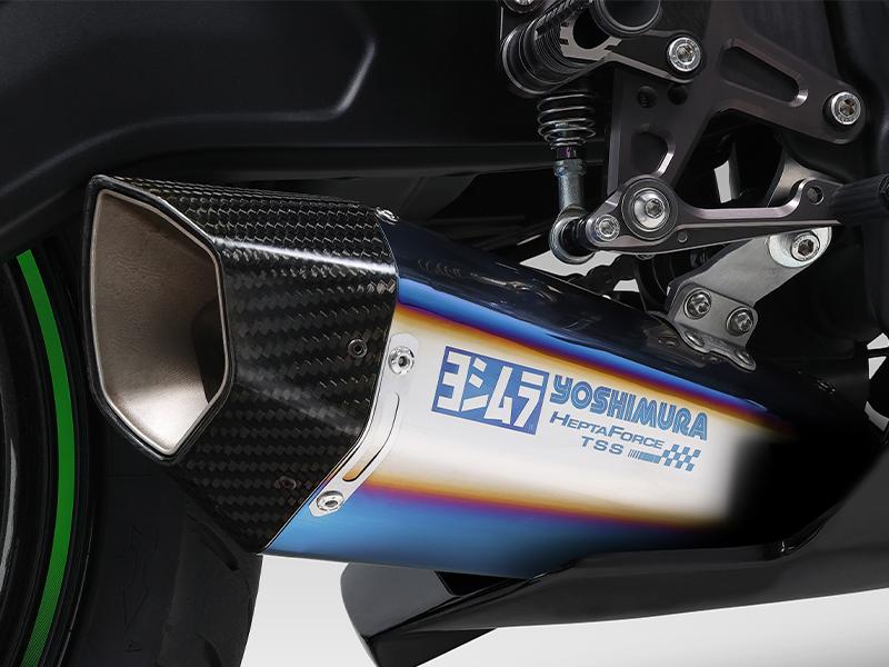 ヨシムラから Ninja ZX-25R 用「HEPTA FORCE TSS レーシングチタンサイクロン」が登場 記事3