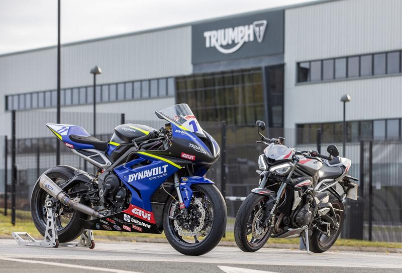 【トライアンフ】英国スーパーバイク選手権に「Dynavolt Triumph」として参戦! 車両はストリートトリプル RS ベース 記事1
