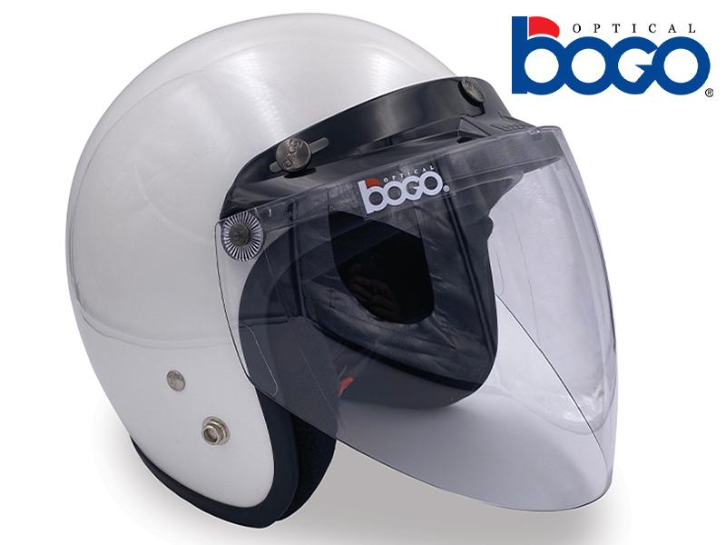 bogo オプティカルの汎用ジェットヘルメット用シールド「ジェットシールド」が発売 メイン