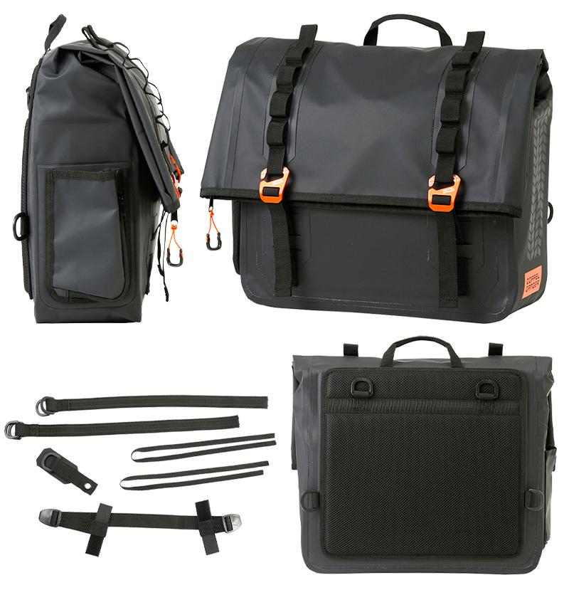 クルーザー用に設計された防水サドルバッグ「ターポリンサドルバッグ WP/WPS」がドッペルギャンガーから発売 記事6