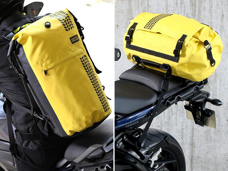 ※ドッペルギャンガーの防水ツーリングバッグに新色「イエロー」が登場 メイン