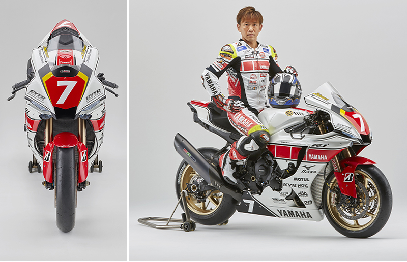 【ヤマハ】中須賀選手が WGP 参戦60周年記念カラーの「YZF-R1」で全日本選手権に参戦 記事3