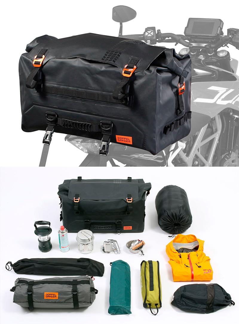 荷崩れしにくい大容量防水シートバッグ!「ターポリンシートバッグ ツアー DBT611-BK」がドッペルギャンガーから発売 記事1