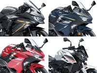 【カワサキ】「Ninja ZX-25R」「Ninja 400/250」「Z400/250」に新グラフィックを採用! メイン
