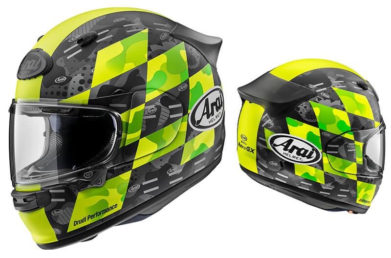 アライのフルフェイスヘルメット「アストロ GX」にチェッカー模様のグラフィックモデルが登場! 9月下旬発売 記事1