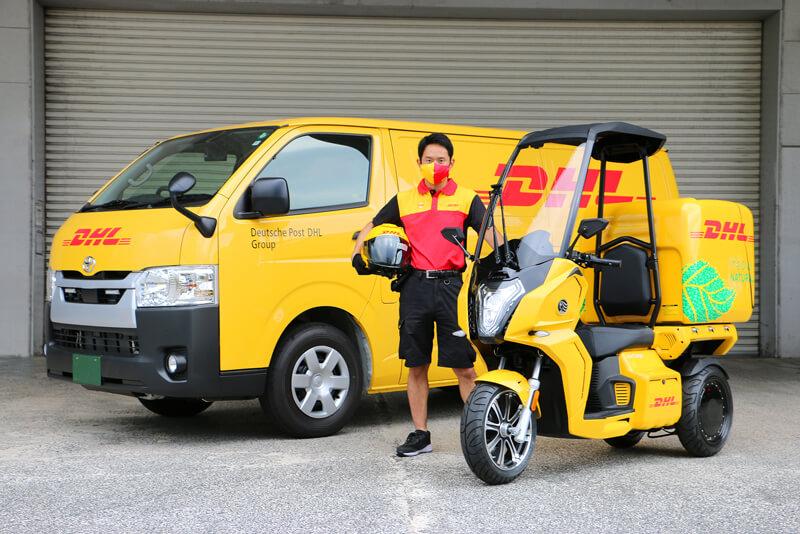 【アイディア】DHL ジャパンが電動3輪バイク「AA カーゴ α 4」を導入 メイン